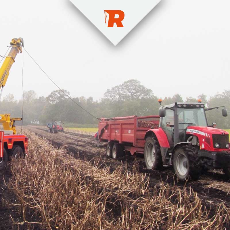 Agricultural Vehicle Recovery from Ratcliffe Cambridgeshire
